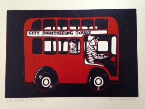 City Sightseeing Tours £45 unframed