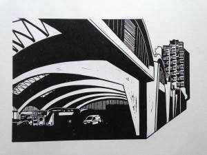 Stockwell Bus Garage £75 unframed / £170 framed