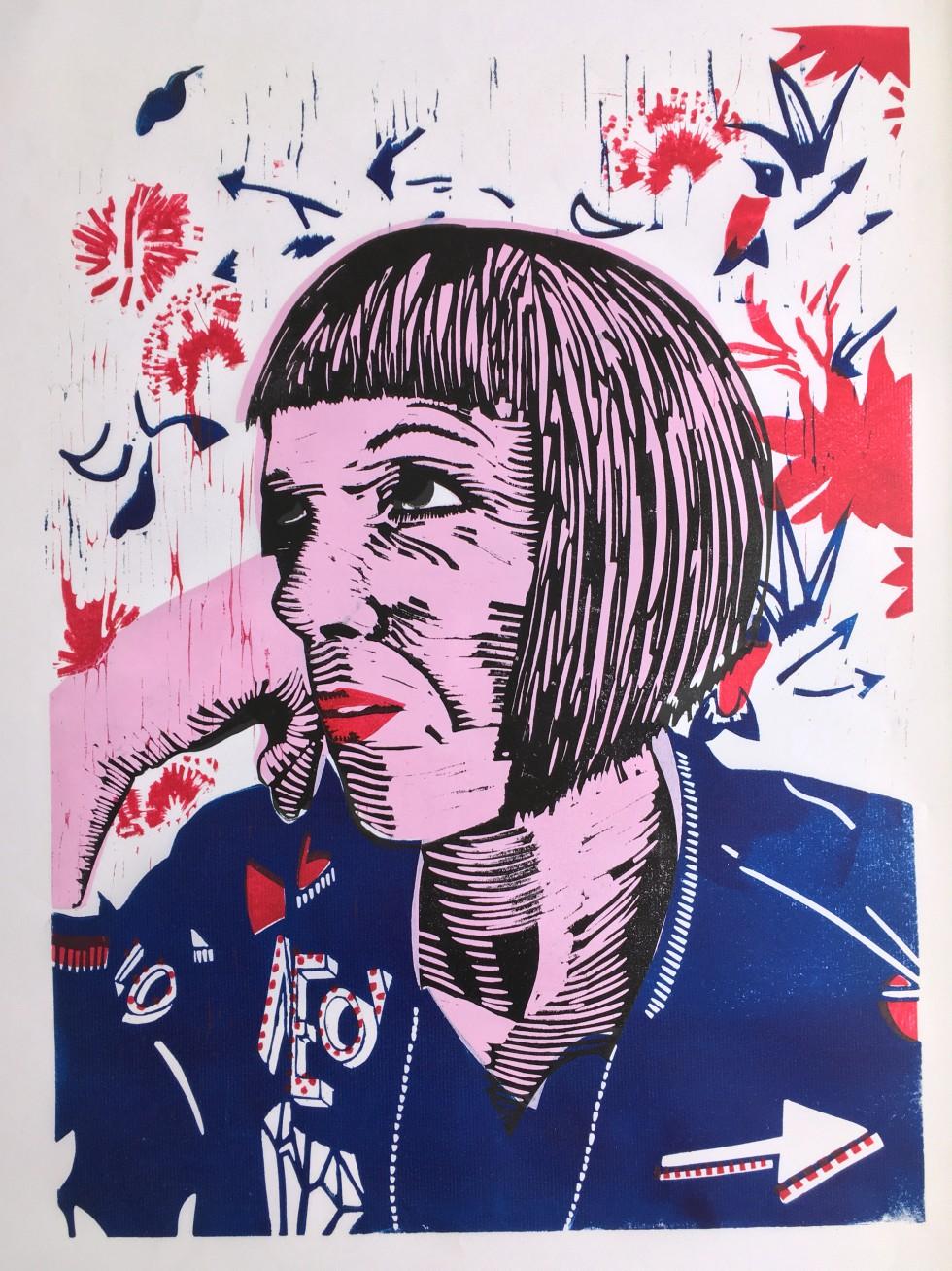 Self Portrait with Bomber Jacket £150 unframed / £300 framed Jacket